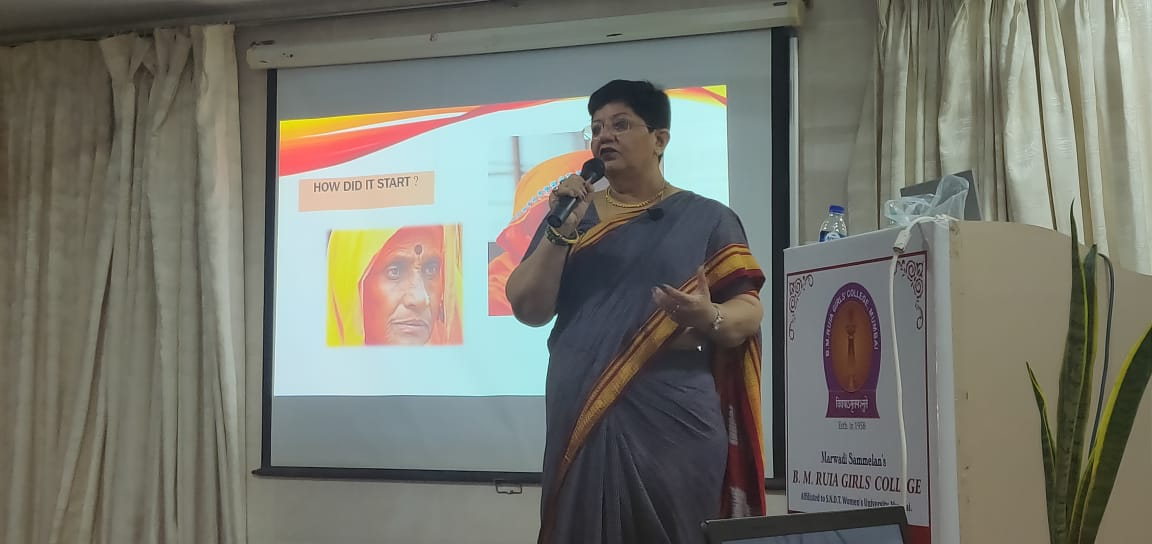 Ruia Girls college- Awareness session for students