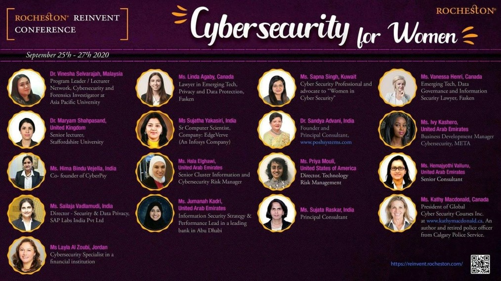 Rocheston Re-invent 2020 Cybersecurity for women